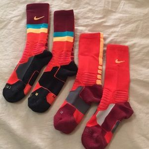 Two pair. Nike hyperelite socks size M.